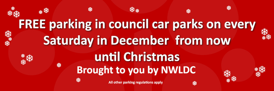 Free Christmas car parking homepage banner