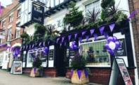 Ashby de la Zouch turned purple to celebrate the award