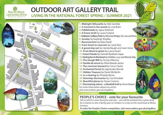 Art trail leaflet