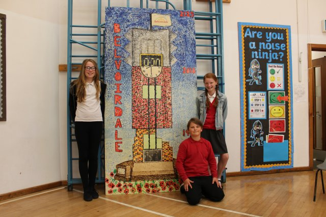 Casey may carr kacper gorski and yazmin taylor beck with the art board they have designed for coalville park (2)