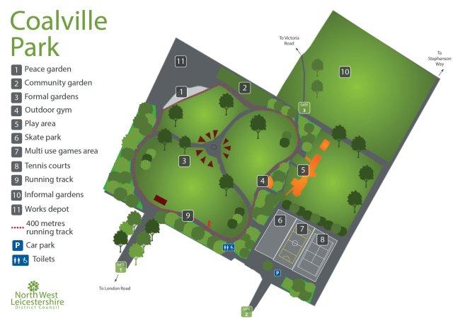 coalville park site plan