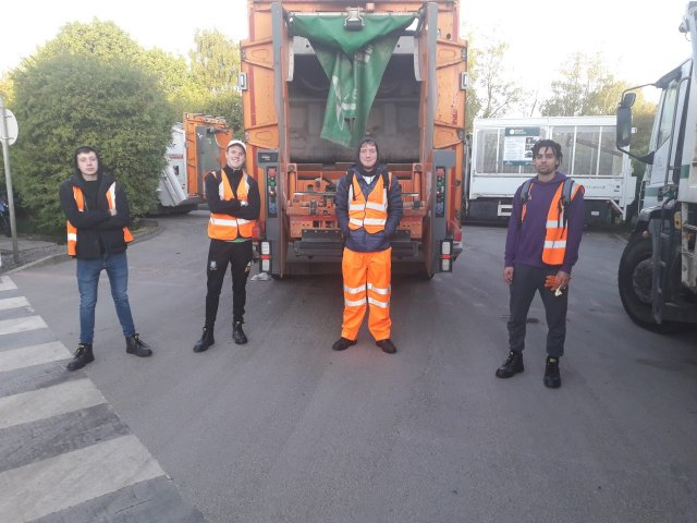 Everyone Active recycling and waste crew
