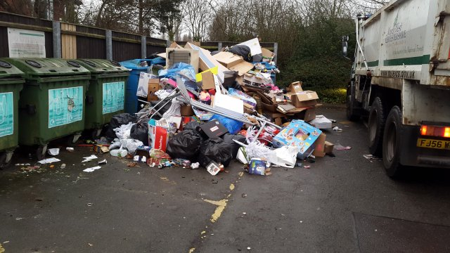 Fly tipping in whitwick