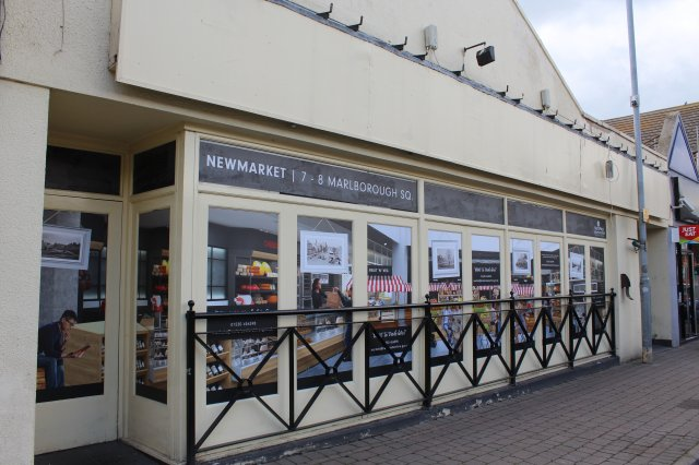 Graphics Showing the Concept for Newmarket Have Been Installed at the Former Litten Tree Pub – the New Home of the Market in Coalville