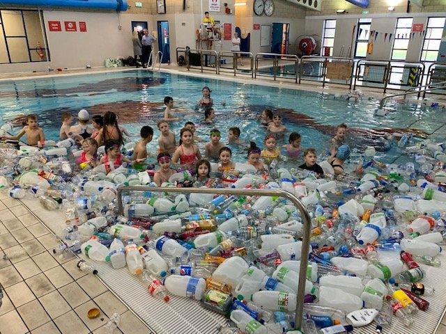 Hood Park Leisure Centre - Ocean of plastic - Everyone Active - Feb 2020