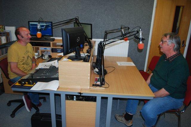 Jon Sketchley (Hermitage FM) and Steve Duckworth (Coalville Heritage Society)
