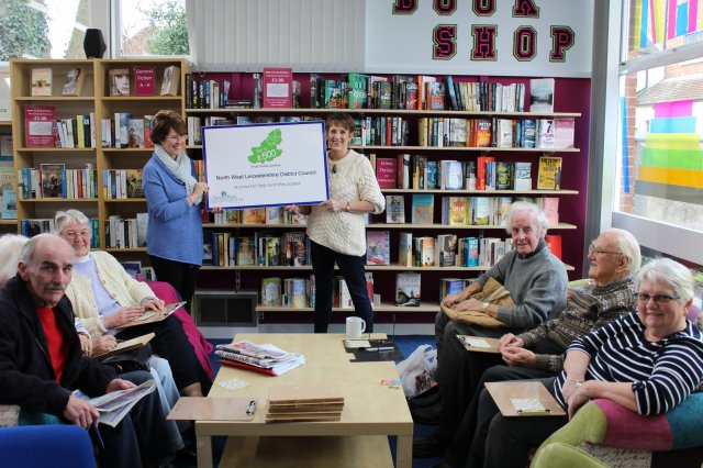 Kegworth community library celebrating their small grant award