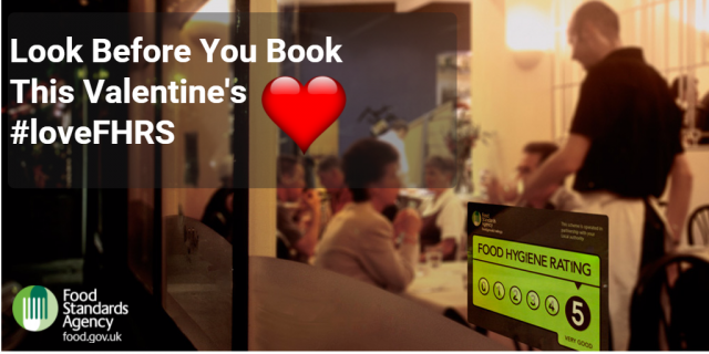Look before you book on Valentine's Day - Food Standards Agency