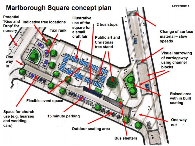 Marlborough Square redesign