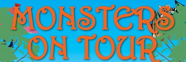 Monsters on tour banner