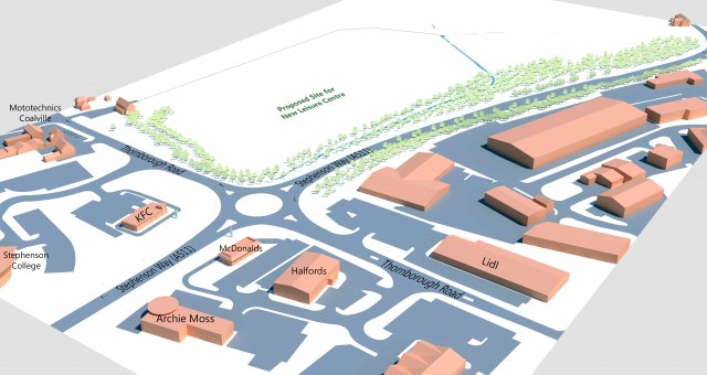 New leisure centre aerial 1