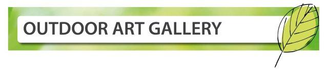 Outdoor art gallery banner