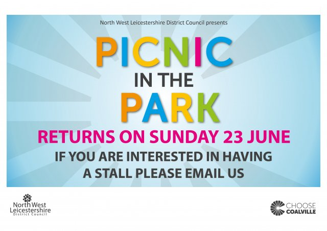 Picnic in the Park stalls save the date