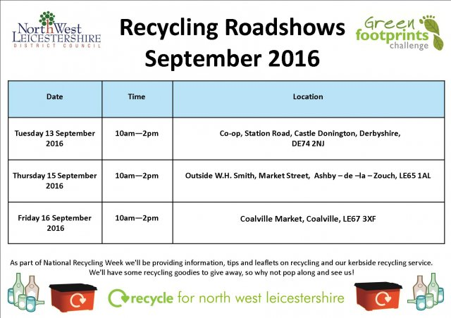 Recycling roadshows september 2016