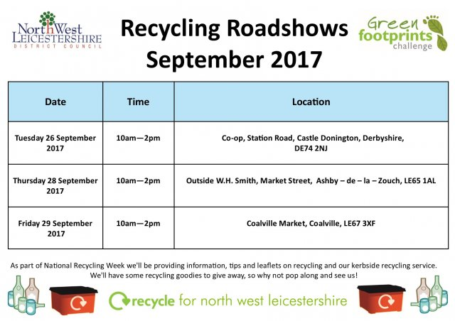 Recycling roadshows september 2017