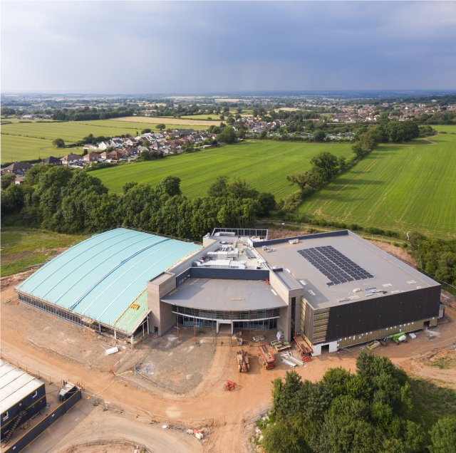 An update on construction works of the Whitwick and Coalville Leisure Centre in July 2021.
