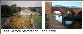 Canal before restoration and now