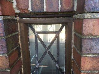 Coalville Clock Tower restoration 2018 - lintels and damaged brickword