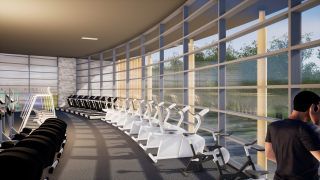 Coalville Leisure Centre gym - artists impression