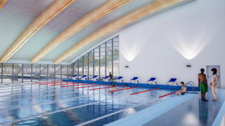 Coalville Leisure Centre pool - artists impression