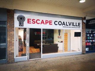 Shop frontage of Escape Coalville