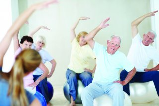 Exercising elderly