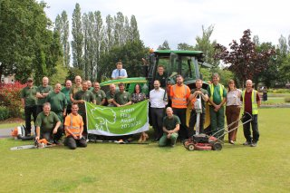 Green Flag Staff Grounds Maintenance Team Parks and Open Spaces