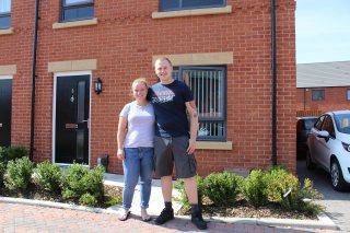 Iga Bycznska and Daniel Springthorpe Have Moved Into One of the New Homes with Their Two Children
