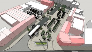 Indoor Market and Regenerated Marlborough Square Artist Impression (Roof Not Shown)