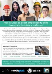 JCP leaflet for Construction based training- Mercia Park