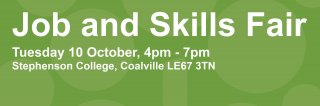 Jobs and skills fair homepage banner
