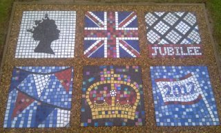 Mosaic Panels for Queen's Diamond Jubilee 2012