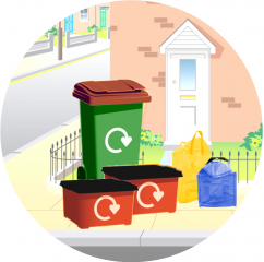Image of recycling containers in North West Leicestershire