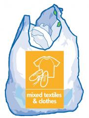 Image of carrier bag full of clothes and shoes