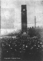 Unveiling of the Memorial Clock Tower in Coalville - Copyright Coalville Times