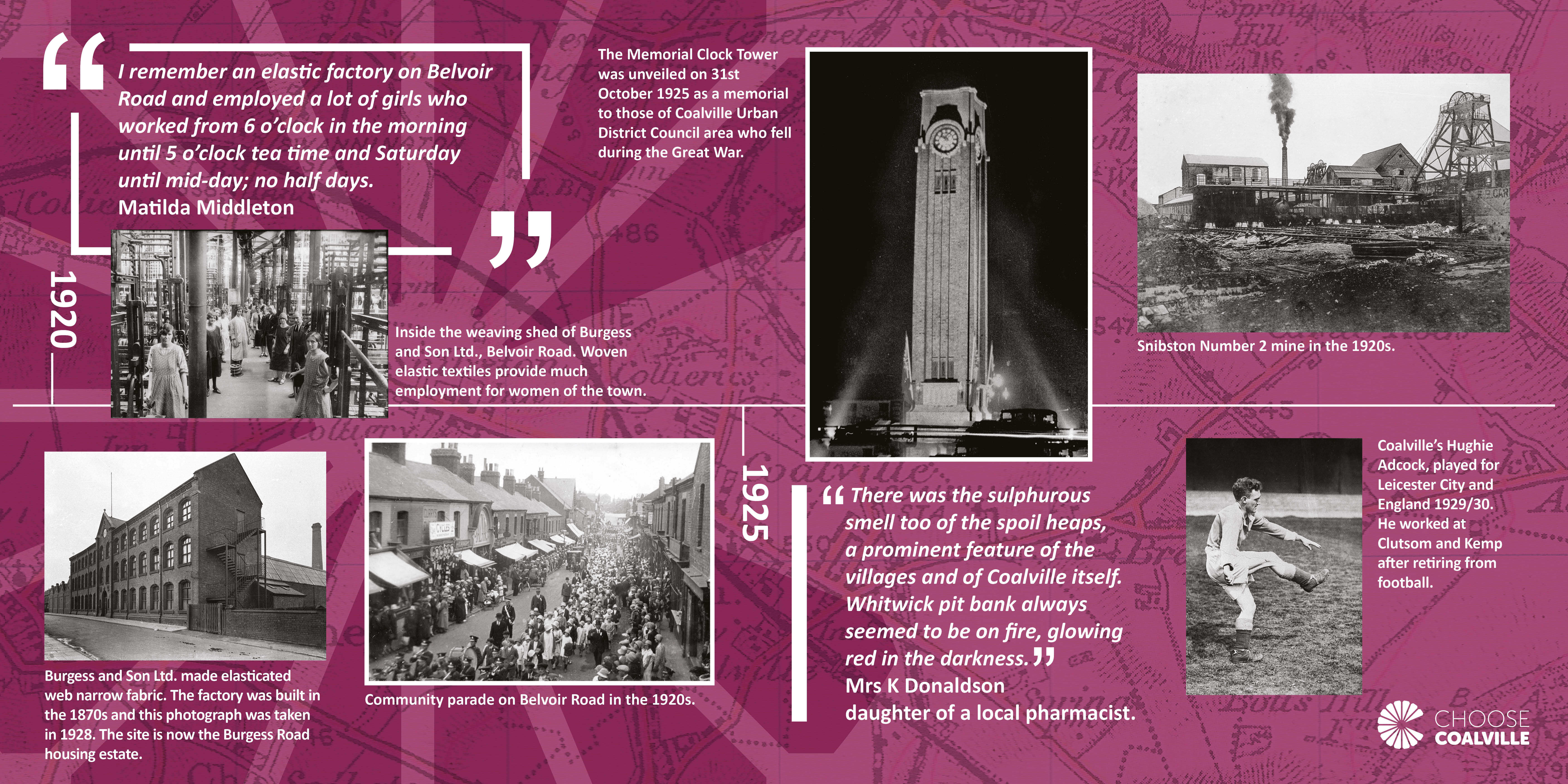 Coalville heritage timeline North West Leicestershire District