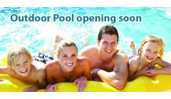 Outdoor Pool Opening Soon Banner